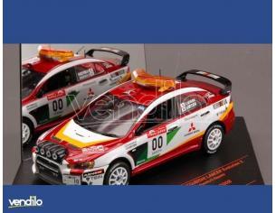 Vitesse VE43442 MITSUBISHI LANCER EVO X N.00 JAPAN 2008 MIYOSHI-HAYASHI 1:43 Modellino