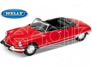 Welly WE2405 CITROEN DS 19 1956 CABRIO OPEN RED 1:24 Modellino
