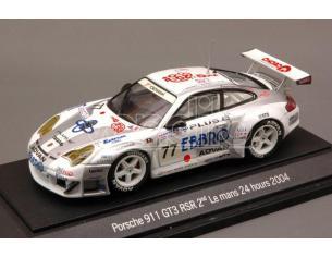 Ebbro EB43600 PORSCHE 911 GT3 RSR N.77 12th LM 2004 (2nd LMGT) KUROS.-ORIDO-NISH.1:43 Modellino