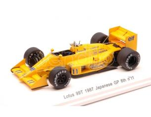 Reve Collection REVE70184 LOTUS 99TB S.NAKAJIMA 1987 N.11 6th JAPAN GP W/DECALS 1:43 Modellino
