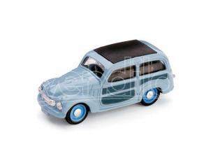 Brumm BM0029-02 FIAT 500 C BELVEDERE CHIUSA 1951 AZZURRO CENERE 1:43 Modellino