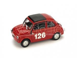 Brumm BM0480 FIAT 595 ABARTH N.126 1st PREMIO CAMPAGNANO VALLELUNGA 1965 R.PINTO 1:43 Modellino