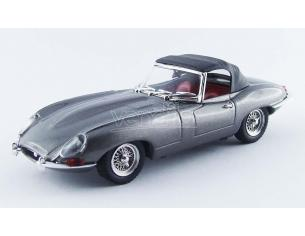 Best Model Bt9508 Jaguar E Spider Soft Top 1961 Gunmetallo 1:43 Modellino
