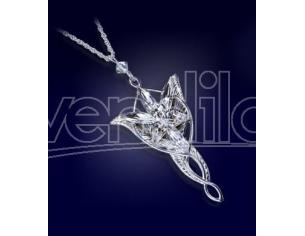 Ciondolo collana Lord of the Rings Pendant Arwen Evenstar pz silver plated Noble Collection