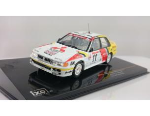 Ixo model RAC223 MITSUBISHI GALANT VR-4 N.11 RETIRED (ACCIDENT) TOUR DE CORSE 1991 1:43 Modellino