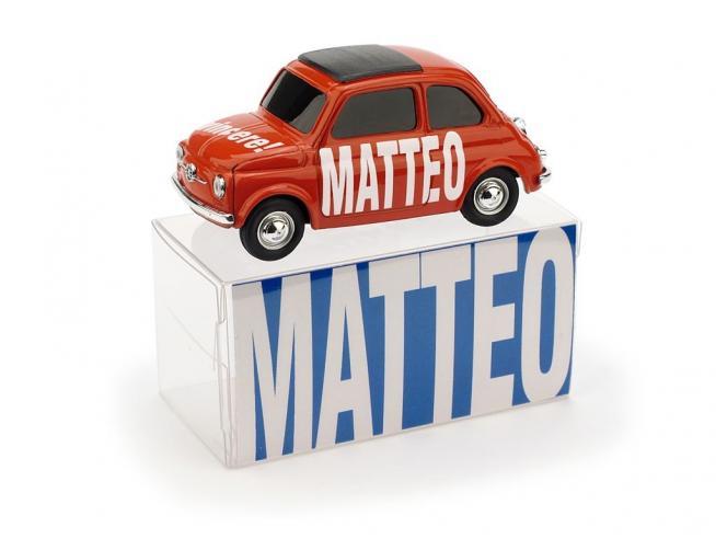 Brumm BMBR024B FIAT 500 MATTEO VINCERE! 1:43 Modellino