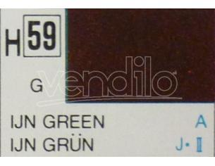 Gunze GU0059 IJN GREEN GLOSS  ml 10 Pz.6 Modellino