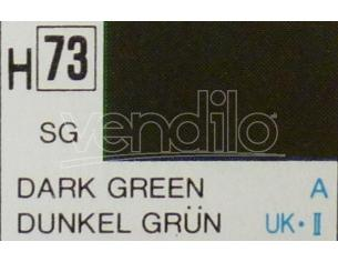 Gunze GU0073 DARK GREEN SEMI-GLOSS  ml 10 Pz.6 Modellino