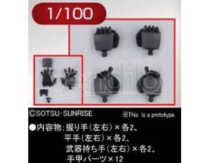 BANDAI MODEL KIT BUILDERS PARTS HD MS HAND 02 ZEON 1/100 ACCESSORI