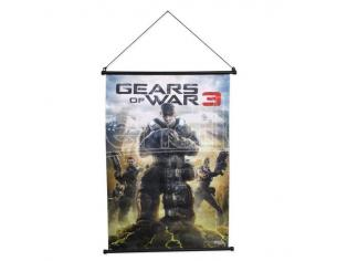 NECA GOW 3 WALL SCROLL BOX ART POSTER