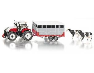 Sky Marks SK3870 STEYR WITH STOCK TRAILER 1:32 Modellino