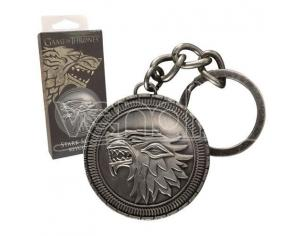 Portachiavi Game of Thrones Metal Keychain Stark Shield Noble Collection