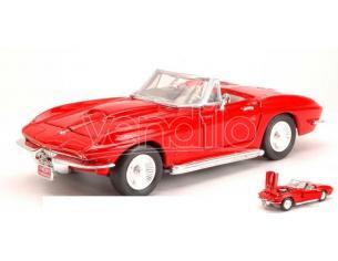 Motormax MTM73224R CHEVROLET CORVETTE 1967 RED 1:24 Modellino