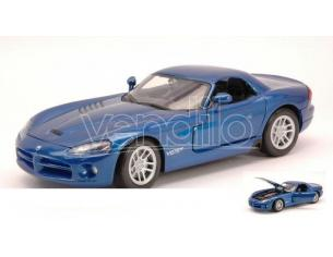 Motormax MTM73290MB DODGE VIPER SRT-10 2003 BLUE MET.1:24 Modellino
