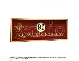 Harry Potter  Placca Murale Binario 9 E 3/4 Espresso Hogwarts  56x20 Cm Noble