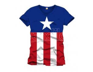 Maglietta Captain America T Shirt Costume Size XL CODI