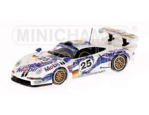 MINICHAMPS 430966625 PORSCHE 911 GT1 MOBIL BOUTSEN STUCK WOLLEK 24H LE MANS 1996 Modellino