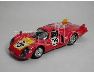 Best Model BT9252 ALFA ROMEO 33.2 N.38 5th LE MANS 1968 FACETTI-DINI 1:43 Modellino