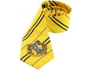 Cravatta Tassorosso Harry Potter Tie Hufflepuff Crest Cinereplicas