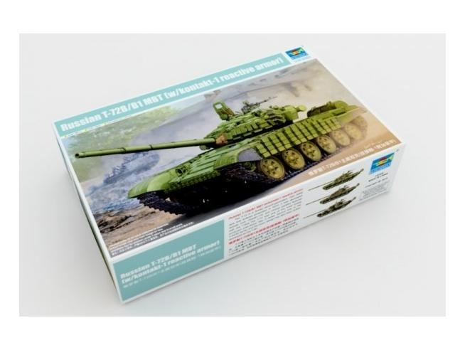 Trumpeter TP5599 CARRO RUSSIAN T-72B/B1 MBT W/KONTAKT-1 REACTIVE ARMOR KIT 1:35 Modellino