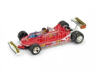 Brumm BM0578CH FERRARI 312 T4 G.VILLENEUVE 1979 N.12 WINNER USA OVEST GP W/PILOTE 1:43 Modellino