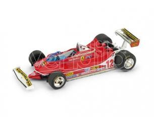 Brumm BM0578 FERRARI 312 T4 G.VILLENEUVE 1979 N.12 WINNER USA OVEST GP 1:43 Modellino