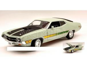 Auto World AMM992 FORD TORINO COBRA 1971 LIGHT GREEN/ BLACK 1:18 Modellino