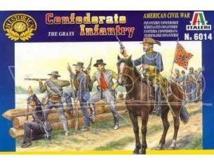 Italeri IT6014 CONFEDERATE INFANTRY THE GRAYS KIT 1:72 Modellino