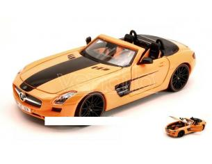 Maisto MI31370O MERCEDES SLS AMG ORANGE/BLACK 1:24 Modellino