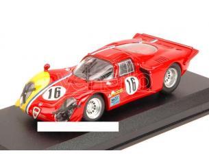 Best Model BT9578 ALFA ROMEO 33.2 COUPE' N.16 16th 1000 KM SPA 1968 GOSSELIN-TROSCH 1:43 Modellino