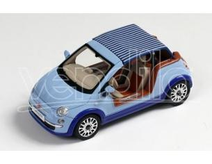 Protar PR0255 FIAT 500 TENDER TWO CASTAGNA MILANO 2008 LIGHT BLUE 1:43 Modellino