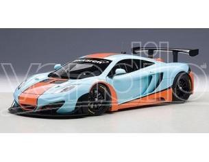 Auto Art / Gateway AA81343 MC LAREN 12C GT3 AZZURRO/ARANCIONE 1:18 Modellino