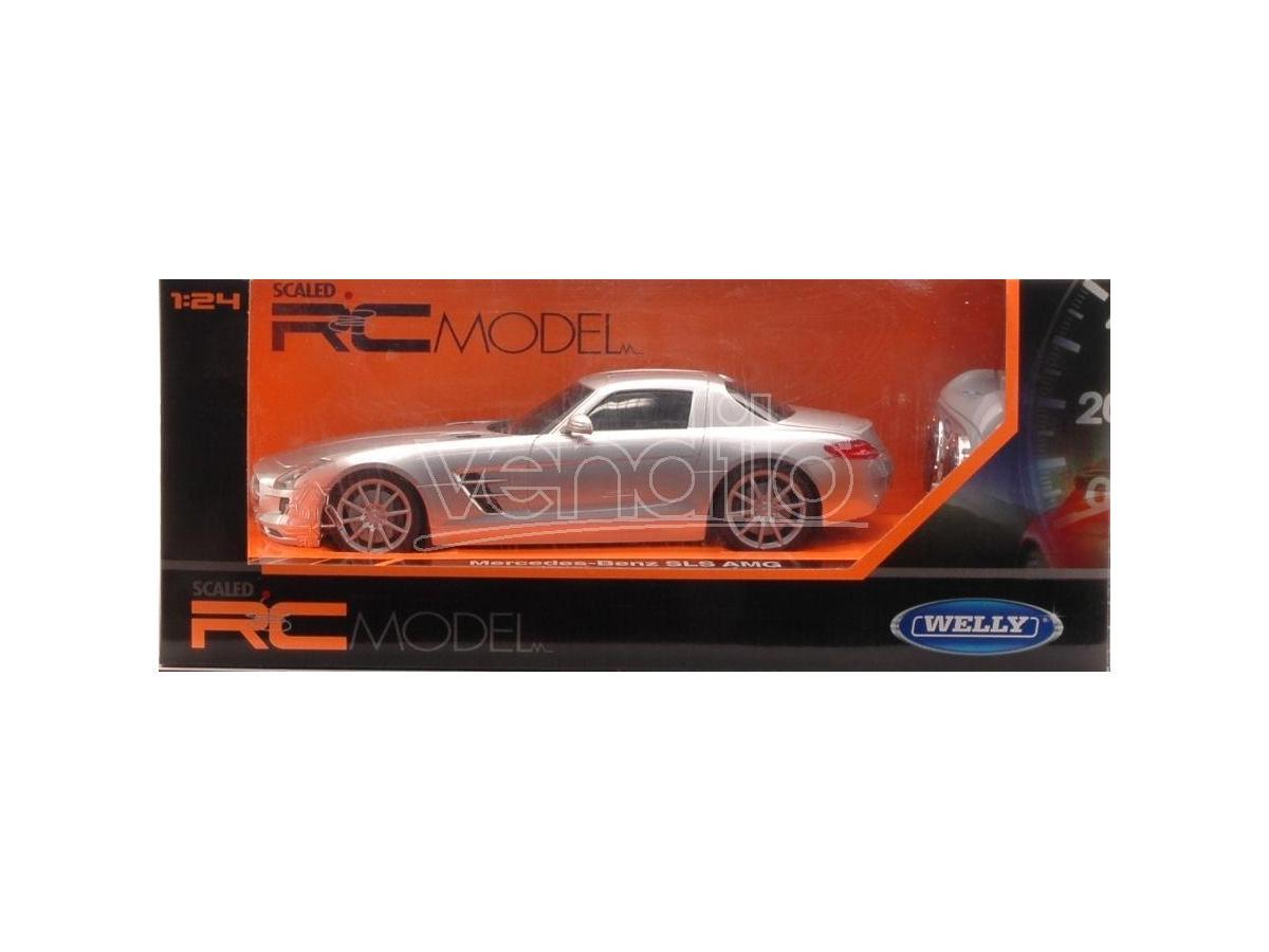 Welly WE84002 MERCEDES SLS AMG RADIOCOMANDO 1:24 Modellino