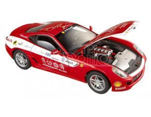Hot Wheels L7117 FERRARI 599 GTB FIORANO PANAMERICAN TOUR 2006 RED 1:18 Modellino