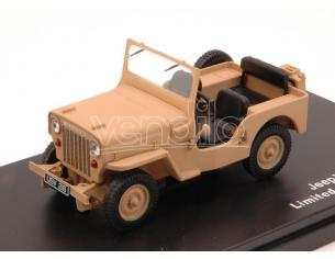Triple 9 T9-43039 JEEP WILLYS CJ3B 1953 OPEN DESERT SAND 1:43 Modellino