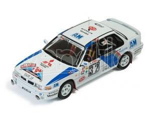 Ixo model RAC231 MITSUBISHI GALANT N.32 18th MONTE CARLO 1990 M.GERBER-P.THUL 1:43 Modellino