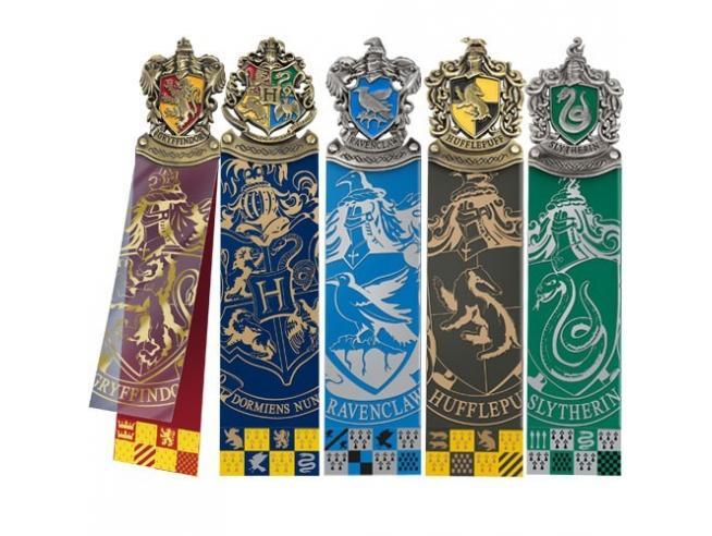 Harry Potter Set 5 Segnalibri Con Tutte Le Casate Di Hogwarts Noble Collection