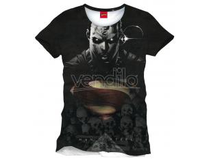 Man Of Steel Maglietta Maglia T Shirt Big Face All Over Size S CODI