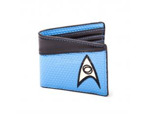 Star Trek Portafoglio Wallet Bifold Science Logo Blue Bioworld