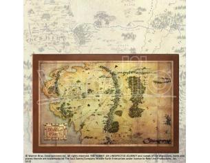 Mappa della Terra di Mezzo lo Hobbit Signore degli anelli Noble Collection