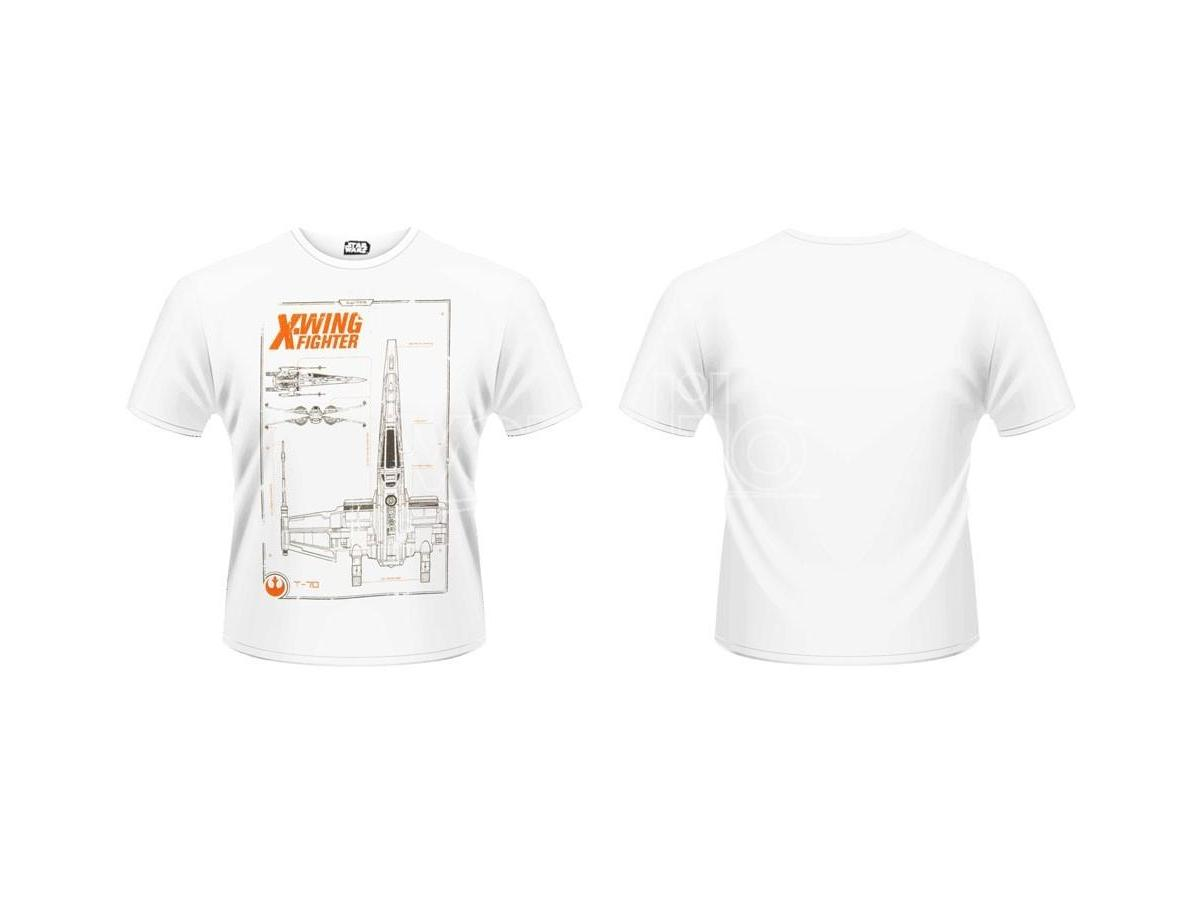 Star Wars Episode VII Maglia T Shirt X Wing Maintenance Manual Size S
