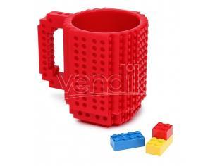 Tazza Lego rossa Build On Brick Mug  ThinkGeek