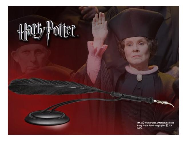 Penna con Piedistallo Dolores Umbridge Harry Potter Noble Collection