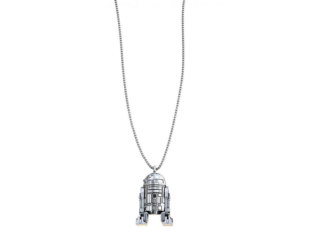 SD TOYS SW R2-D2 SILVER NECKLACE COLLANA