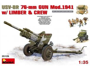 Miniart MIN35129 USV-BR 76mm GUN MOD.1941 KIT 1:35 Modellino