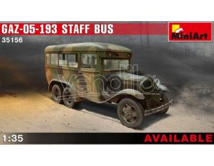 Miniart MIN35156 GAZ 05 193 STAFF BUS KIT 1:35 Modellino