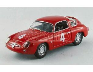Best Model BT9519 FIAT ABARTH 750 N.4 5th (WINNER CLASS) GT GP MONZA 1963 G.CAPRA 1:43 Modellino