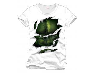 Hulk T Shirt Maglia motivo Suit Size L muscolatura petto 100% cotone CODI