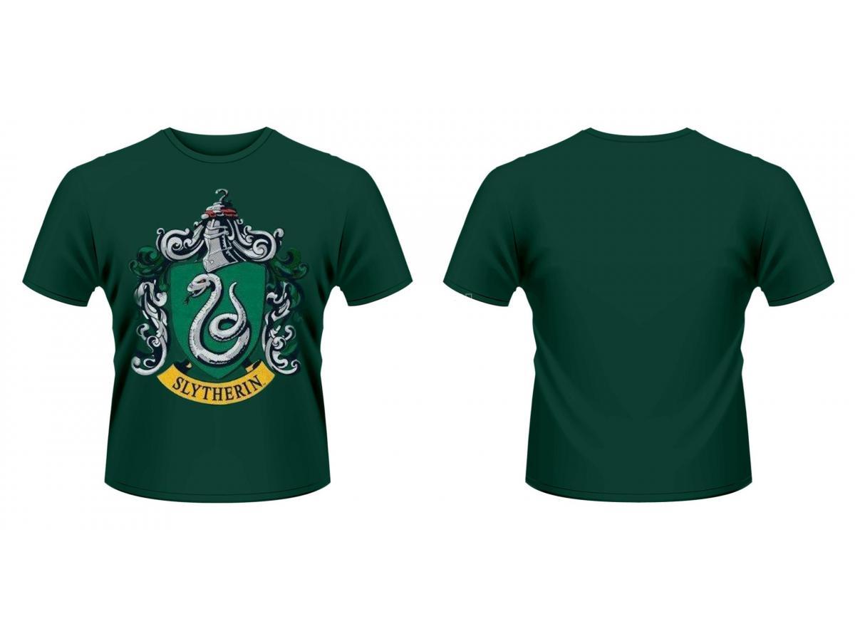 Maglietta Serpeverde Harry Potter T Shirt Slytherin Crest Size XL