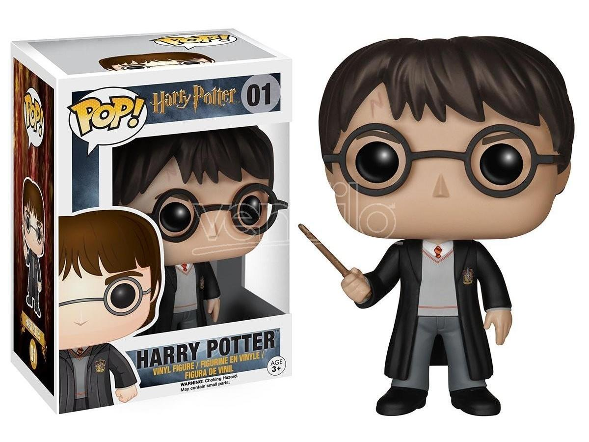 Funko Harry Potter POP Movies Vinile Figura Harry con Bacchetta 10 cm